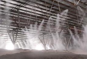 高压微雾除尘现场视频