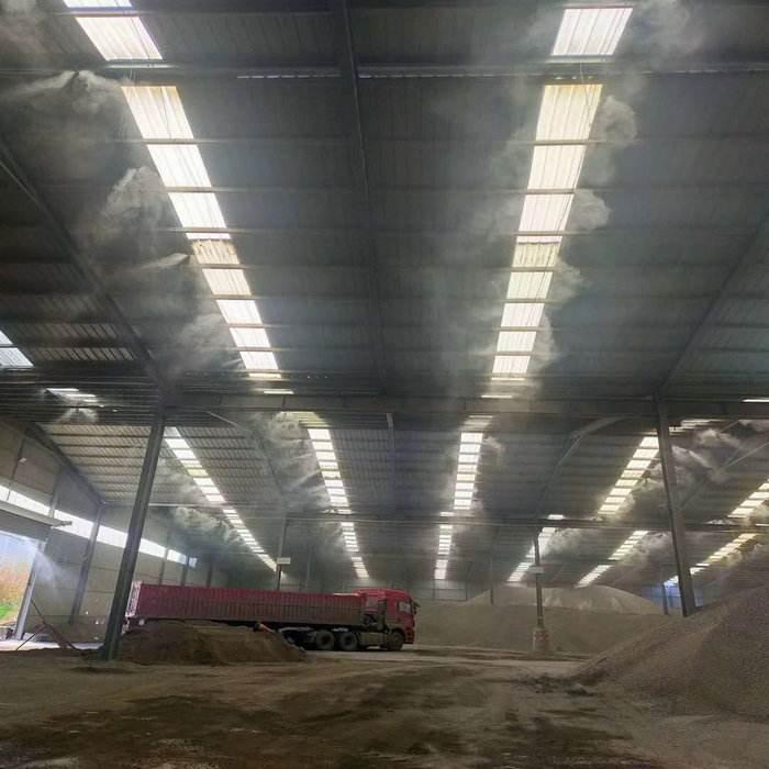 砂石车间喷雾除尘设备安装案例
